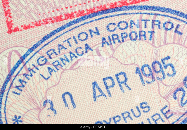stamp travel passport - Stock-Bilder