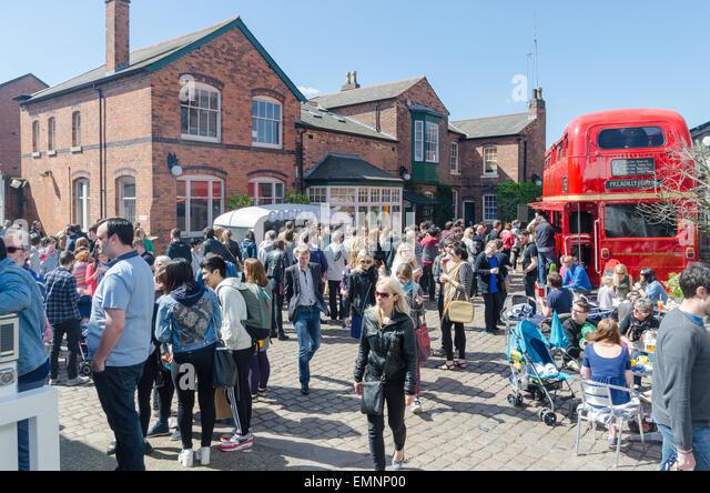 Visitors enjoying the Digbeth Food Festival in Birmingham - Stock Image