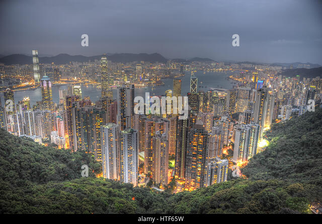 Hong Kong The Peak - Stock Image