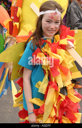 Cleveland Ohio University Circle Parade the Circle costumes masks colorful - Stock Image
