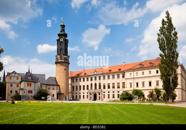 Weimar Palace Schloss, Germany, Europe - UNESCO world heritage site - Stock Image