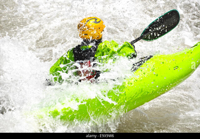 Kayaking as extreme and fun sport - Stock-Bilder