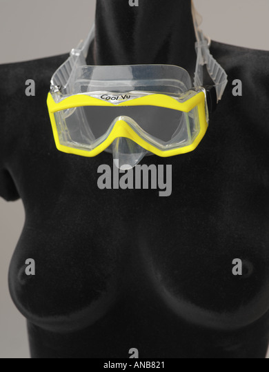 ScubaPro Cool Vu diving and snorkeling face mask with yellow accent - Stock-Bilder