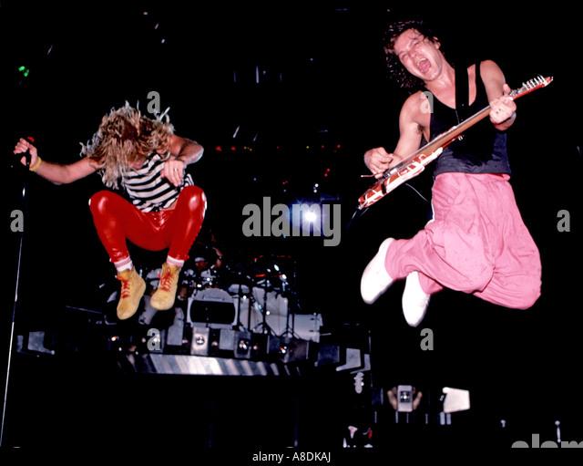 VAN HALEN - US rock group in 1988 - Stock Image