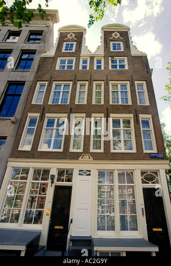 Amsterdam Herengracht twin house from 1664 - Stock Image