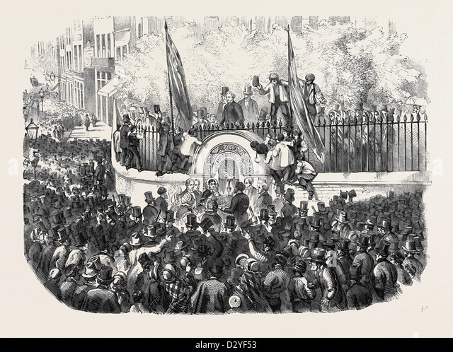 OPENING OF THE FIRST PUBLIC DRINKING FOUNTAIN FOR THE METROPOLIS ON THURSDAY WEEK - Stock Image