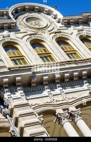 Hawaii Hawaiian Honolulu Iolani Palace royal residence exterior - Stock Image