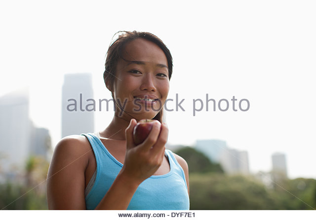 Young woman outdoors - Stock Image