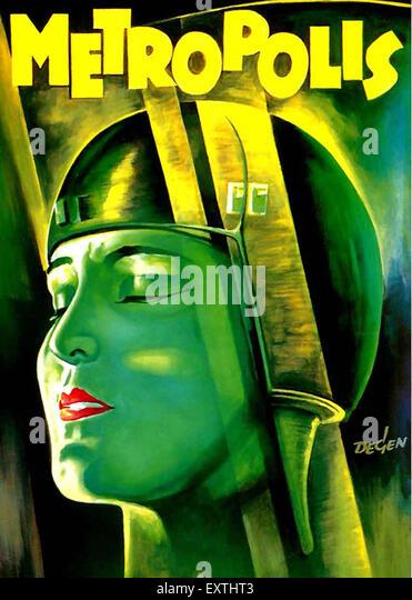 1920s USA Metropolis Film Poster - Stock Image