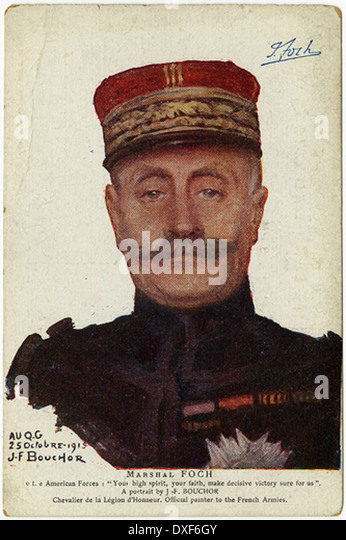 001 Marshal FOCH - Stock Image