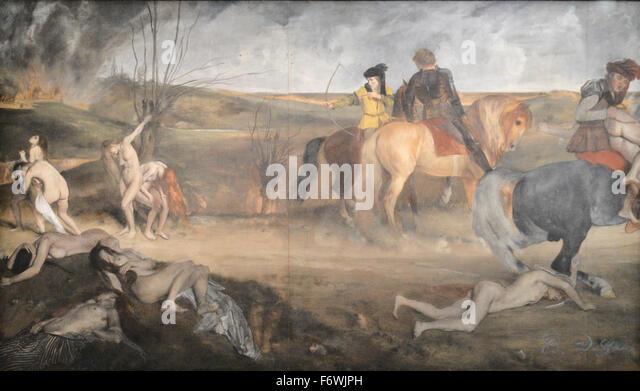 Edgar Degas - Scène de Guerre au Moyen-Age - Stock-Bilder