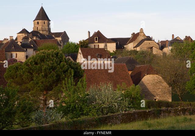 Charming village Saint Robert Corrèze Perigord South West France - Stock Image