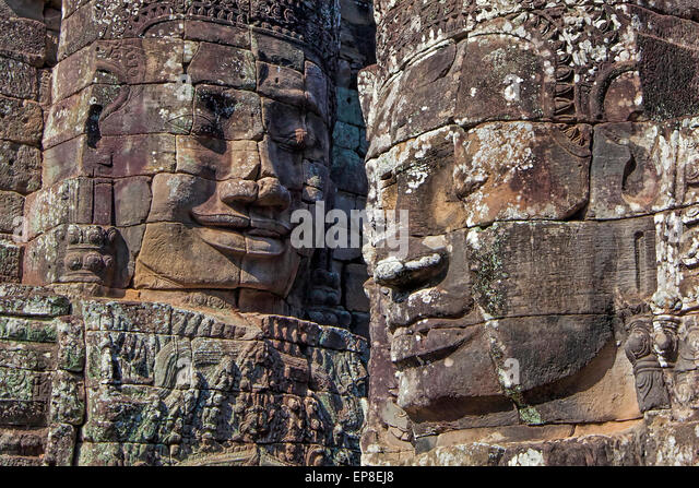 Angkor Archaeological Park - Stock Image