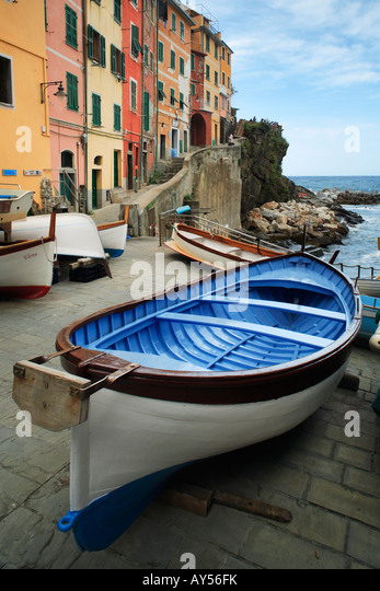 Town of Rio Maggiore in Italy's Cinque Terre national park - Stock-Bilder