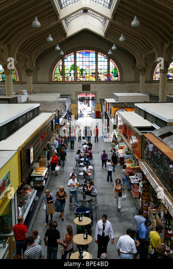 Mercado Municipal, Sao Paulo, Brazil. - Stock Image