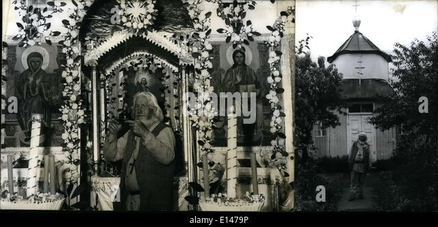 Apr. 16, 2012 - Pictured here is the last hermit of the Bavarian metropolis, Russian friar Piotr Timofei. The 85 - Stock Image