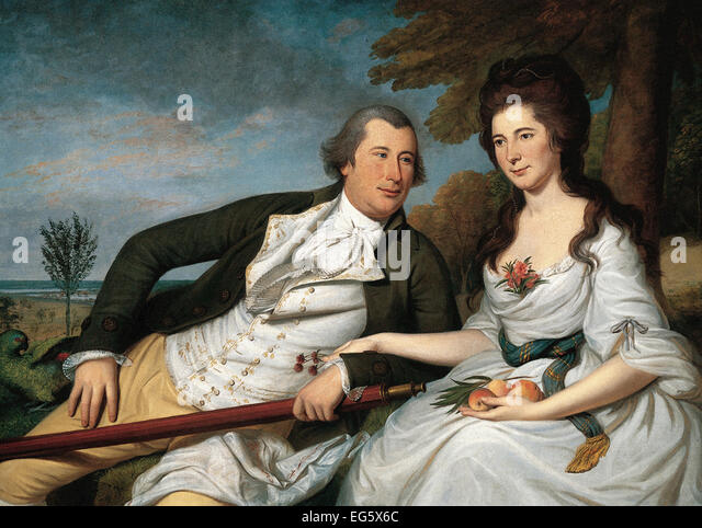 Charles Willson Peale  Benjamin and Eleanor Ridgely Laming - Stock Image
