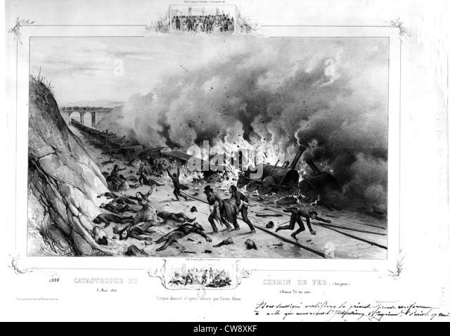 Victor Adam, Railroad catastrophe of May 8, 1842 - Stock Image