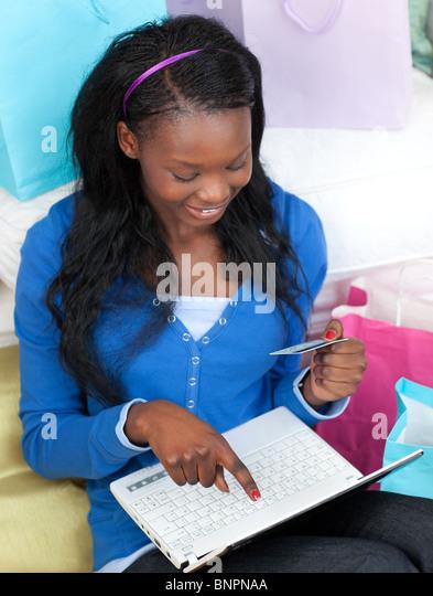 Teen online shopping