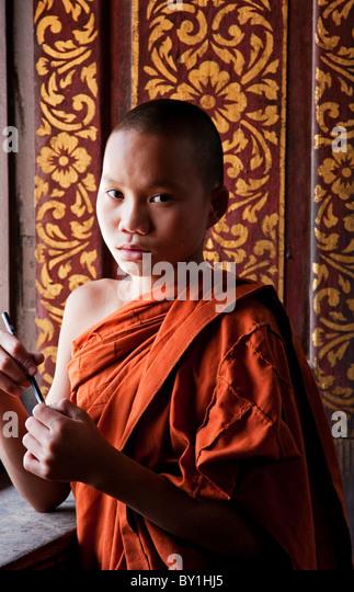 Keng Tung Myanmar  city photos : Myanmar, Burma, Keng Tung Kyaing Tong . A young novice monk at the ...
