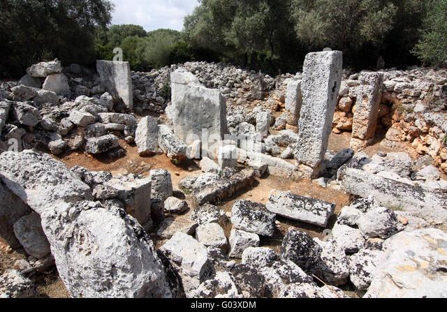 Minorca monument - Son Catlar - ancient ruins - Stock Image