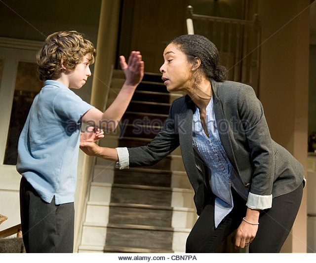Haunted Child by Joe Penhall, directed by Jeremy Herrin. With Sophie Okonedo as Julie, Jack Boutler as Thomas. Opens - Stock Image