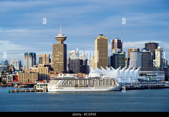 Vancouver skyline Canada - Stock Image