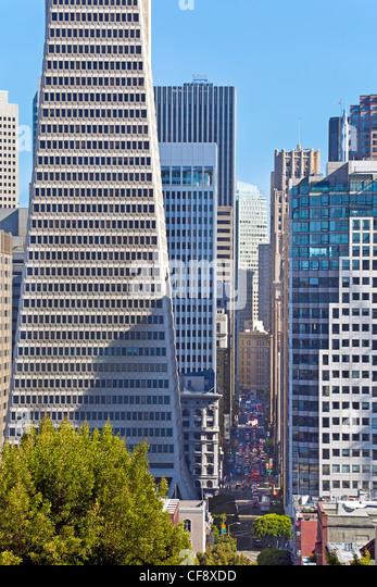 Transamerica Building, San Francisco, California, USA - Stock Image