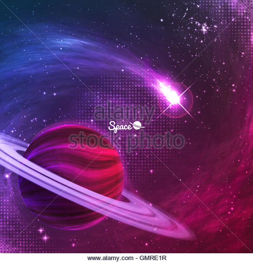 Planet outer space on purple stock photos planet outer for Outer space design australia