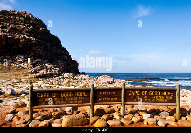 Cape Point, Cape of Good Hope Nature reserve, Cape Town, South Africa - Stock Image
