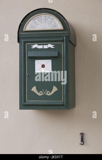 Estonia, Tallinn, Toompea area, Estonian postbox - Stock Image