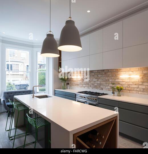 Kitchen Garden London: Island Modern Nobody Pendant Stock Photos & Island Modern