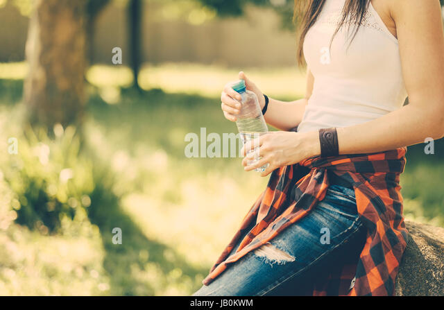 Festival summer woman outdoors - Stock Image
