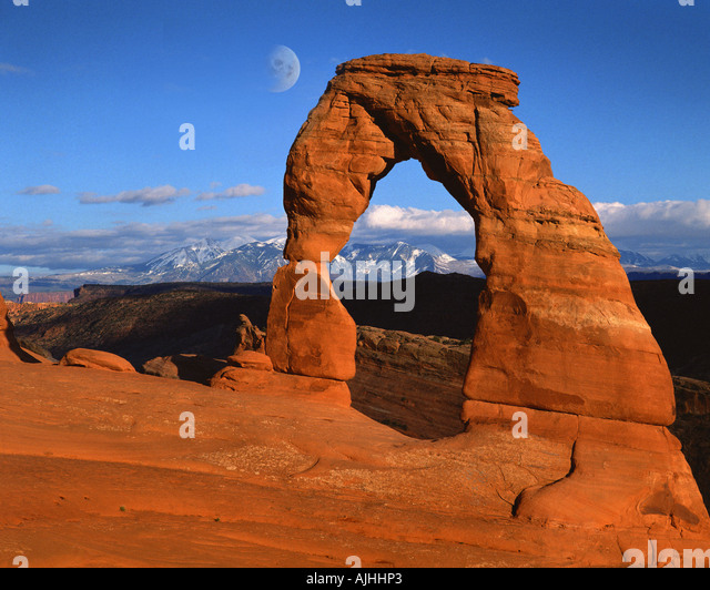 USA - UTAH:  Delicate Arch at Arches National Park - Stock-Bilder