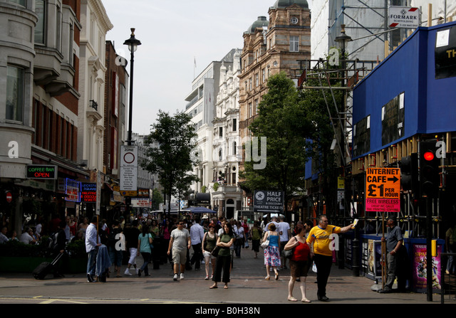 leicester square west end of london uk 08 - Stock Image