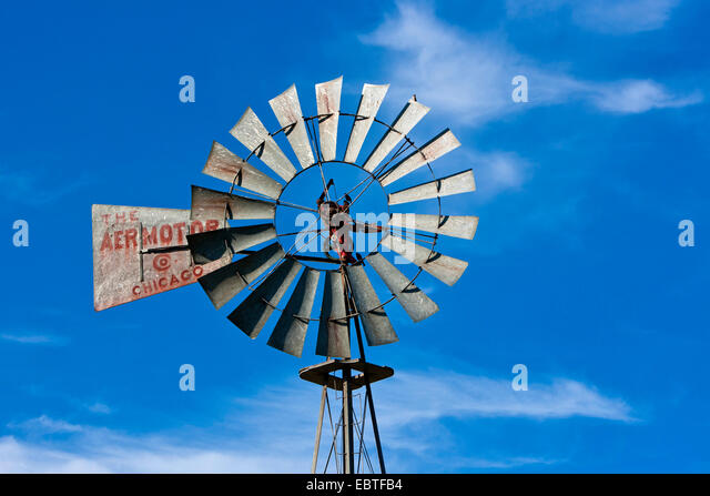 Water Pump near Penticton, Canada, British Columbia - Stock Image
