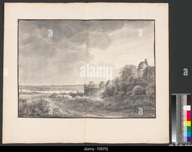 Flusslandschaft bei Arnheim - Stock Image