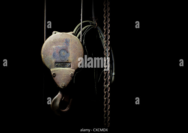 Rusty hoist - Stock Image