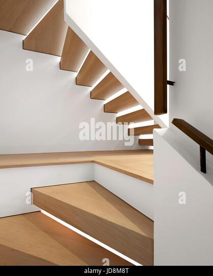 Staircase. Notting Hill House, London, United Kingdom. Architect: Michaelis Boyd Associates Ltd, 2017. - Stock-Bilder