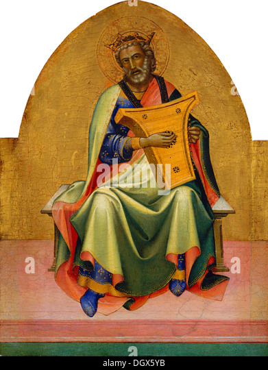 David - by Lorenzo Monaco, 1410 - Stock Image