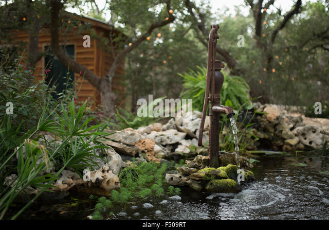 Old cabin in woods stock photos old cabin in woods stock for Ornamental pond pumps