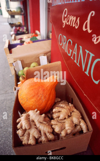 Organic food store in Kenmare, County Kerry, Ireland, in September 2009 - Stock Image