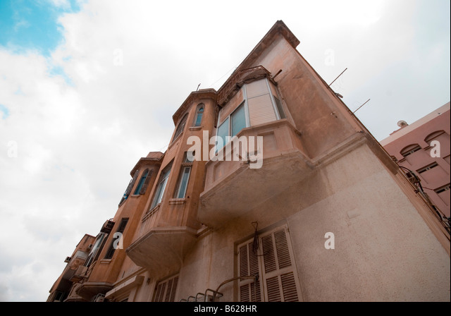 Israel Tel Aviv Eclectic style building - Stock Image