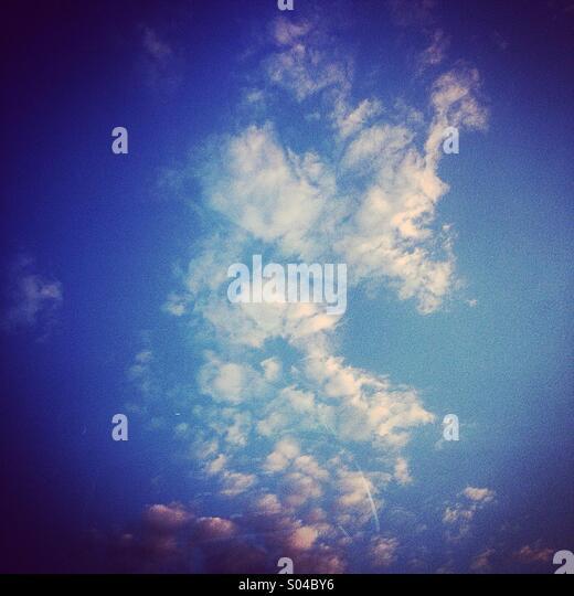 Busy Sunday sky - Stock Image