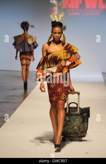LONDON, UK - September 10: Signature Secrets is showcased on the 2nd day of Africa Fashion Week London  © David - Stock Image