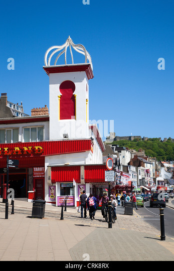 Amusement Arcade on Foreshore Road Scarborough North Yorkshire England - Stock Image