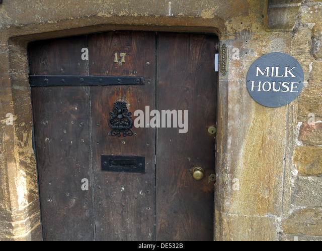 Milk House,17,door, Montecute, Somerset, England, UK - Stock Image