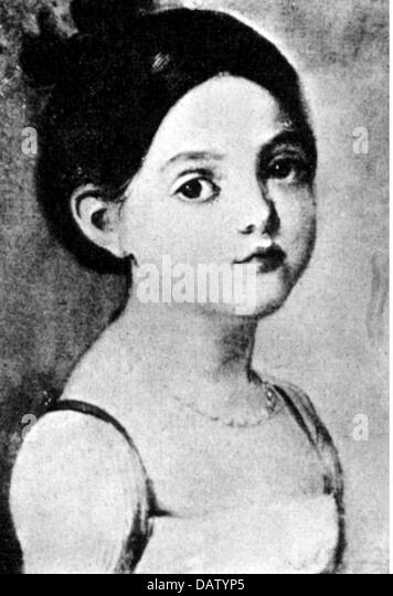 Balzac, Honore de, 20.5.1799 - 18.8.1850, French author / writer, his sister Laure as child, portrait, circa 1810, - Stock-Bilder