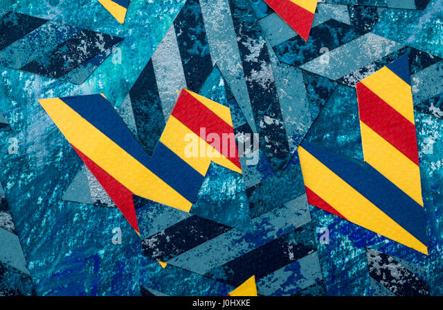 Modern abstract artwork by Ed Buziak. - Stock Image