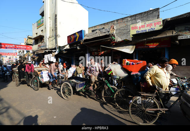 Traffic jam in Lucknow, India. - Stock Image